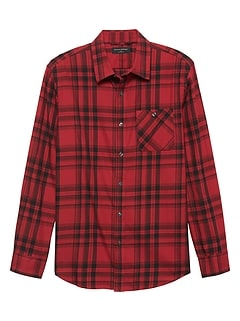 Standard-Fit Lightweight Flannel Shirt