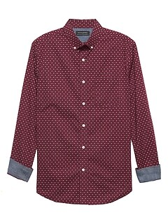 Standard-Fit Soft Wash Stretch Print Shirt