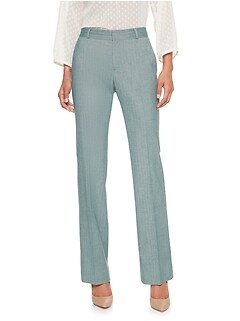 Logan Curvy Herringbone Suit Trouser