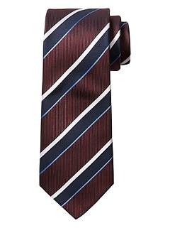 Purple White Stripe Tie