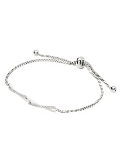 X Link Pave Pull Through Bracelet
