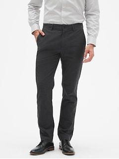 Aiden Slim-Fit Brushed Light Grey Pant