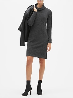 Petite Mock Neck Sweater Dress