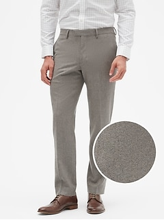 Slim-Fit Tweed Dress Pant