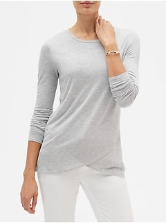 SilkyLuxe Cross Front Tunic