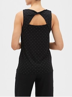 Polka Dot Twist Back Top