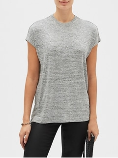 LuxeSpun Rouched Top