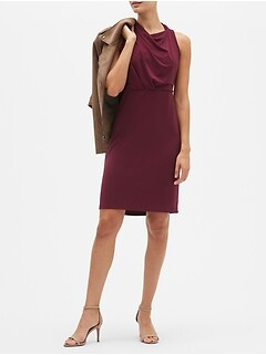 Ruched Knit Sheath Dress