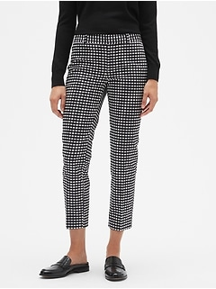 Avery Gingham Sateen Tailored Ankle Pant