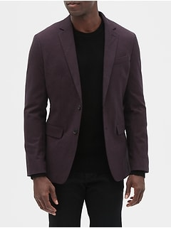 Slim-Fit Burgundy Blazer