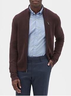 Waffle Sweater Jacket