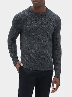 Marl Crew Neck Pullover Sweater