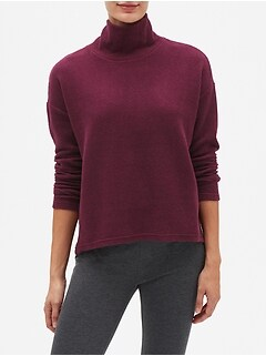 Textured Funnel Neck Sweatshirt