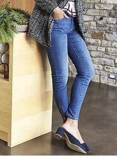 Sculpt Side Zip Hem Skinny Jean