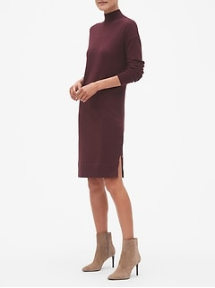 Petite Snap Detail Sweater Dress