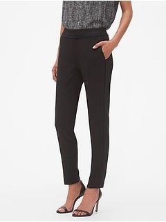Petite Slim Contrast Side Stripe Fashion Pant