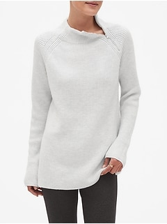 Zip Mock Neck Tunic