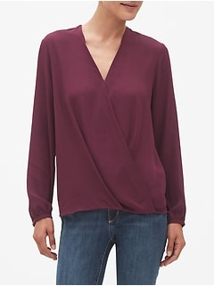 Twist Hem V-Neck Shirt