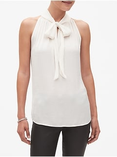 Tie Gathered Neck Top