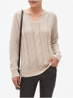 Cozy Cable V-Neck Sweater