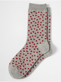 Valentine Day Heart Sock