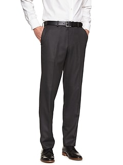 Standard-Fit Stretch Charcoal Trouser