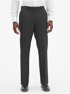 Commute Proof Standard-Fit Grey Print Pant