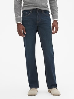 Straight-Fit Stretch Dark-Wash Jean
