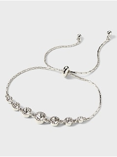 Cubic Zirconia Stone Pull Through Bracelet