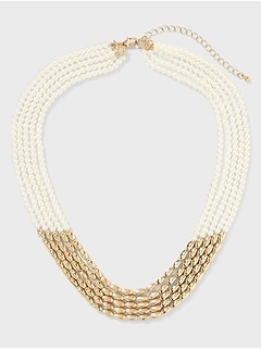 Layered Seed Pearl Bead Necklace