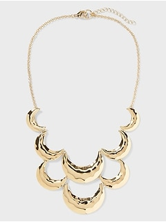 Scallop Statement Necklace
