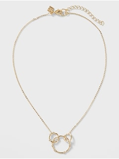 Pave Circle Link Necklace