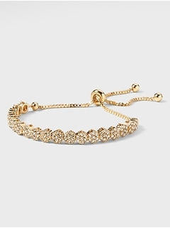 Pave Pull Through Bracelet