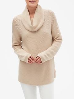 Textured Cowl Neck Sweater