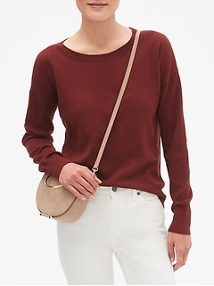 Seed Stitch Crew Neck Sweater