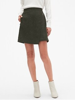 Twill A-Line Wrap Skirt