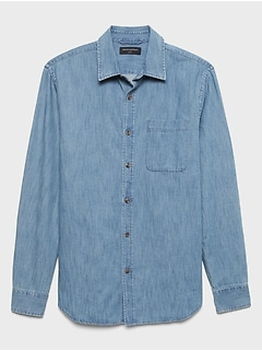 Slim-Fit Cotton Tencel Chambray SuperSoft Shirt
