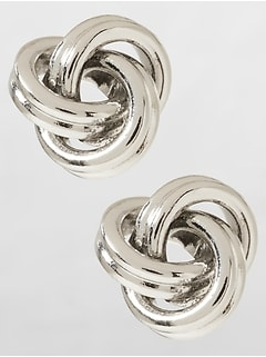 Small Knot Stud Earring