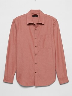 Slim-Fit Yarn-Dyed SuperSoft Shirt