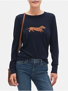 Machine Washable Dog Forever Crew Neck Sweater