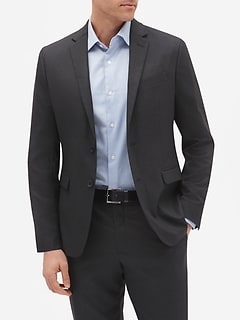 Slim-Fit Stretch Charcoal Blazer