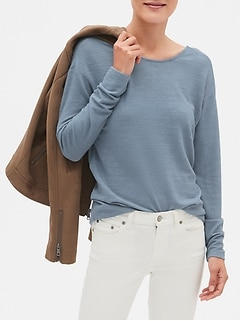 LuxeSpun Twist Back Sweatshirt