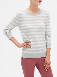 Machine Washable Forever Stripe Crew Neck Sweater
