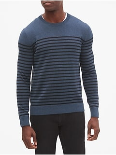 Mariner Stripe Slub Crew Neck Sweater