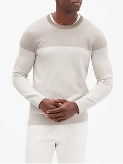 Premium Luxe Colorblock Pullover Sweater