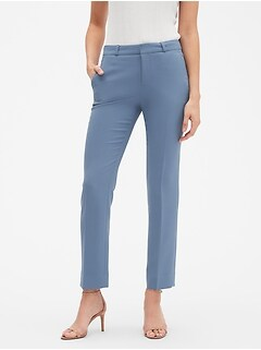 Petite Machine Washable Curvy Ryan Slate Blue Suit Pant