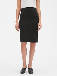 Stretch Long Pencil Skirt