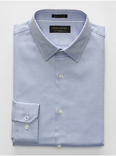 Slim-Fit Premium Cotton Blue Shirt