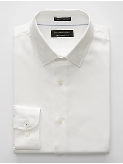 Slim-Fit Premium Cotton Off-White Shirt