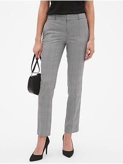 Petite Machine Washable Ryan Plaid Suit Pant